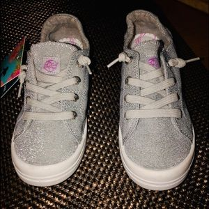Roxy girls shoes silver canvas